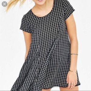 Urban Outfitters black & white checked dress